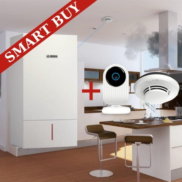 Pachet SMART - Centrala termica cu condensare Bosch Condens 3000 W ZWB28-3CE 22/28-KW + Smoke Safe