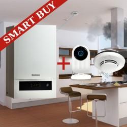 Pachet SMART - Centrala termica cu condensare Buderus Logamax GB012K V2 -25KW ErP + Smoke Safe