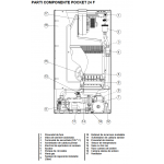Centrala termica murala conventionala cu tiraj fortat Arca Pocket 24-F, incalzire+a.c.m.