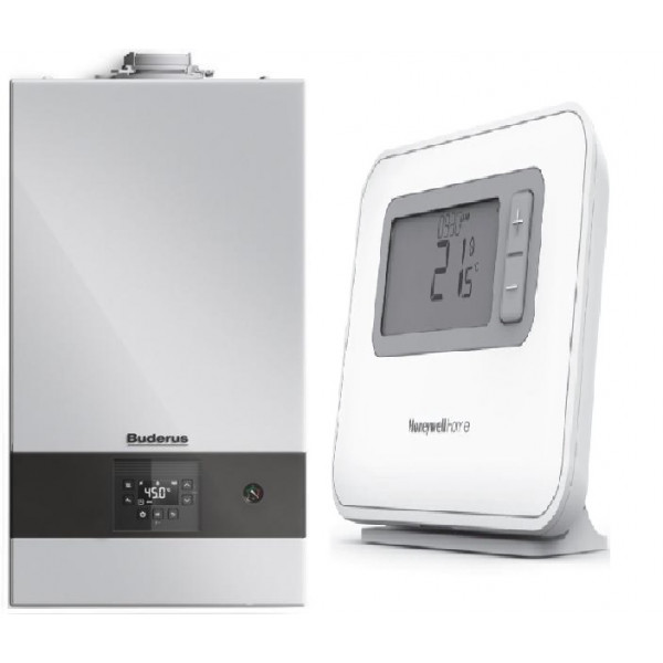Pachet Centrala  Buderus GB122-24 KD H + Kit de evacuare + Termostat Honeywell